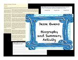 Jesse Owens Biography Activity