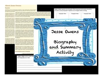 Jesse Owens Biography Activity