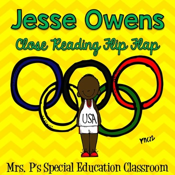 Jesse Owens Close Reading Flip Flap