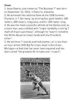Jesse Owens Crossword