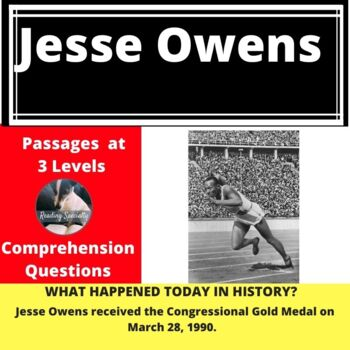 Jesse Owens Differentiated Reading Passage March 28