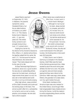 Jesse Owens (Lexile 930)