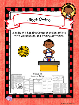 Jesse Owens Mini Book Foldable and Comprehension Packet