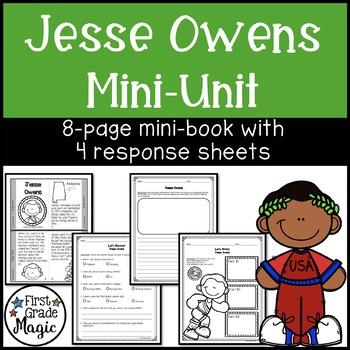 Jesse Owens Mini-book for Black History Month-FREEBIE!