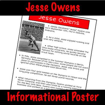 Jesse Owens - Nonfiction Fact Sheet