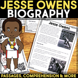 Jesse Owens Reading Passage, Biography Report, & Comprehension Activities