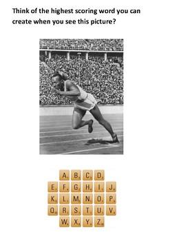 Jesse Owens Scrabble Activity