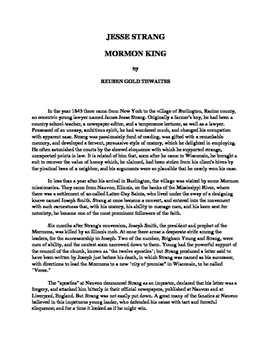 Jesse Strang - Mormon King