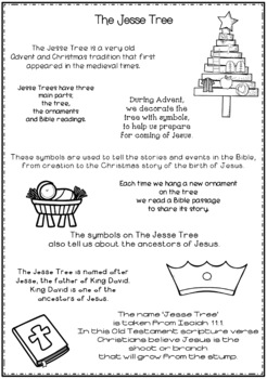 Jesse Tree ~ Advent Christmas Bundle ~ 3 Discounted Resources