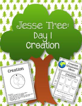 {FREEBIE} Jesse Tree. Day 1. Creation. Christmas Advent