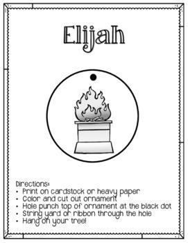 Jesse Tree. Day 15. Elijah. Christmas Advent