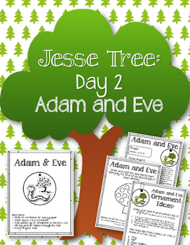 Jesse Tree. Day 2. Adam and Eve. Christmas Advent