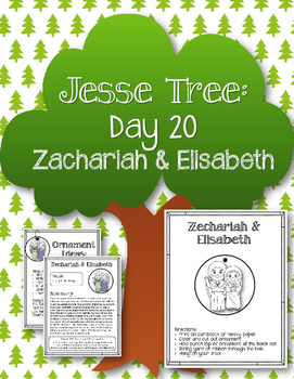 Jesse Tree. Day 20. Zechariah and Elisabeth. Christmas Advent