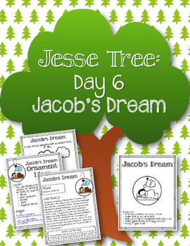 Jesse Tree. Day 6. Jacob's Dream. Christmas Advent Jacob