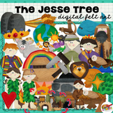 Jesse Tree Digital Felt Art and Clip Art