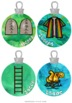 Jesse Tree Advent Christmas Ornaments ~  (3 sizes) Jesus, Mary, Moses and more