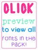 Fonts Pack 3 - STILL GROWING {personal and commercial use}
