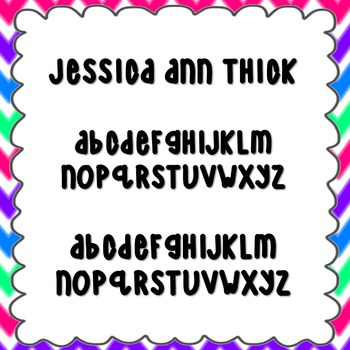 Jessica Ann Thick Font {personal and commercial use; no license needed}
