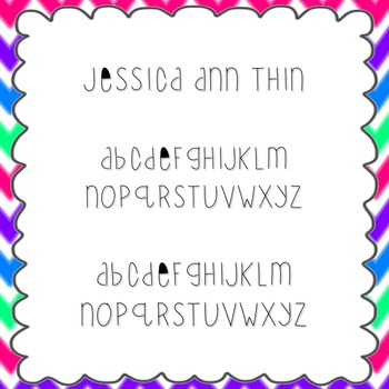 Jessica Ann Thin Font {personal and commercial use; no license needed}