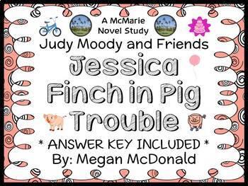 Jessica Finch in Pig Trouble (Megan McDonald) Novel Study / Comprehension