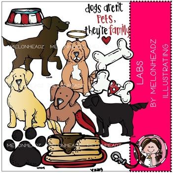 Melonheadz: Lab Dogs clip art - COMBO PACK