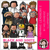 Melonheadz: Hispanic Leaders clip art Part 2 - BLACK AND WHITE