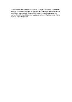 Jessie Cameron Essay - AQA A-level Eng Lit Spec B