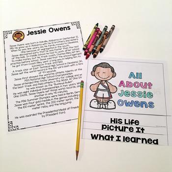 Jessie Owens- Flip Book and Vocab Cards