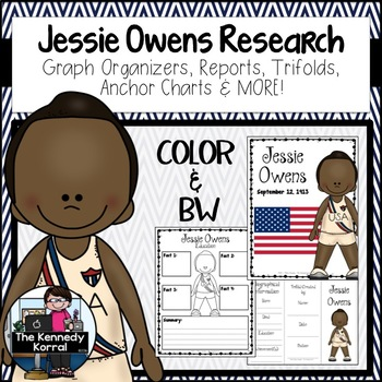 Jessie Owens Biography Research Bundle {Report, Trifold, & MORE!}