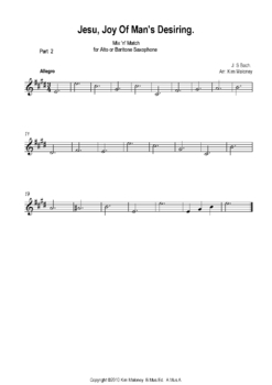 Jesu Joy of Man's Desiring: Instrumental with Mix n Match parts