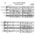 Jesu Meine Freude for Brass Quartet