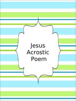 Jesus Acrostic Poem