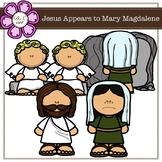 Jesus Appears to Mary Magdalene Digital Clipart (color and