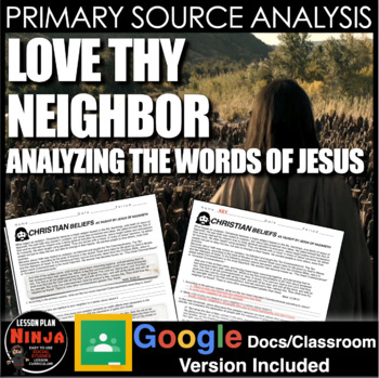 Jesus - Bible Primary Source Analysis (World Religions)
