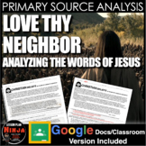 Jesus: Bible Primary Source Analysis(World Religions)+ Distance Learning Version