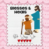 Jesus Blesses & Heals {New Testament Interactive Bible Storytelling Printables}