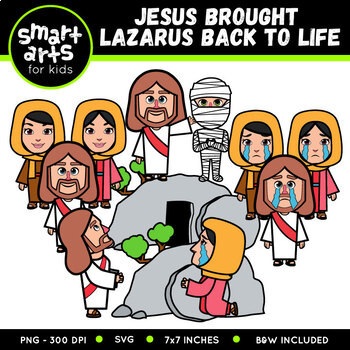 Jesus Brought Lazarus Back to Life Clip Art