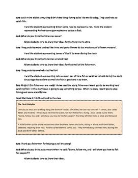 Jesus Calls His Disciples K-5 Sunday School Lesson