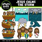 Jesus Calms the Storm Clip Art