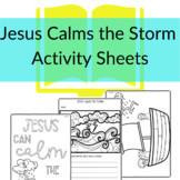 Jesus Calms the Storm Printable Activities for Sunday Scho