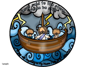 Free Jesus Calming The Storm Coloring Page, Download Free Clip Art ... | 263x350