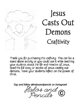 Jesus Casts Out Demons Paper Craft