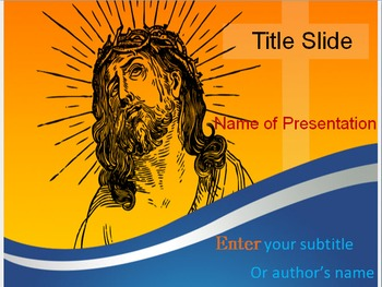 jesus christ powerpoint template by templates vision tpt