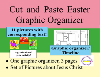 Jesus Christ Easter Sequence Cut and Paste Graphic Organizer or Timeline