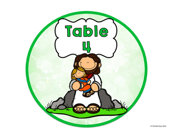 Jesus / Christian Themed Classroom Decor:  Table Signs