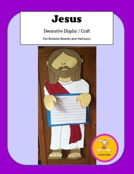 Jesus  Craft -Decorative Display Craftivity and Writing Prompt