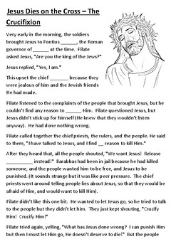 Jesus Dies on the Cross – The Crucifixion Cloze Activity