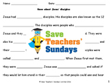 Jesus' Disciples Lesson Plan and Worksheets