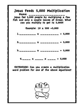 Jesus Feeds 5,000 Multiplication