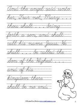 Jesus Has Arrived! Christmas Story Coloring Book with Cursive Copywork